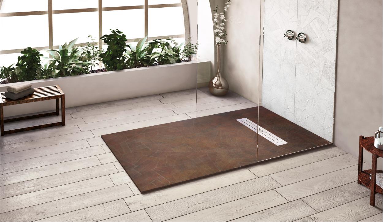 Plato de ducha plano textura retro for Plato ducha plano